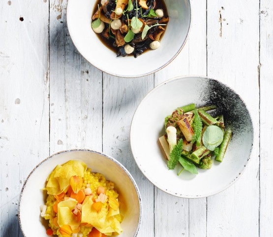 gerecht 'three bowls', dish 'three bowls'