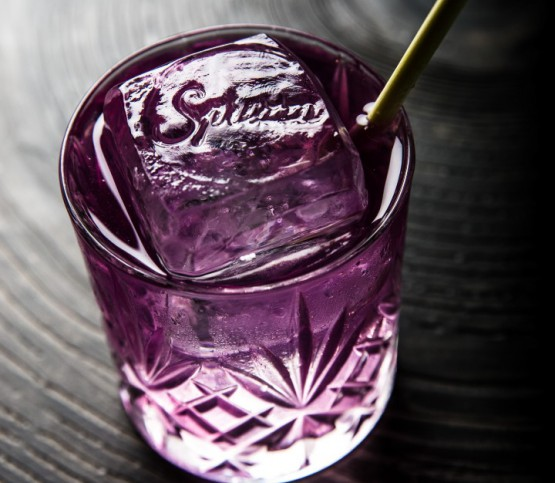 paarse cocktail, purple cocktail